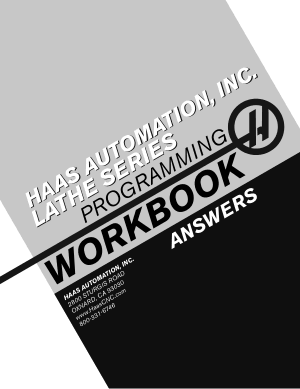 Haas Lathe Programming Workbook Answers