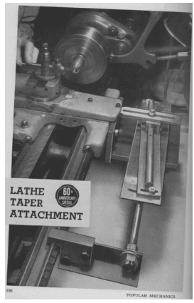 Myford Lathe Taper Attachment