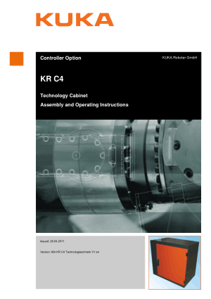 KUKA KR C4 Assembly and Operating Instructions Guide
