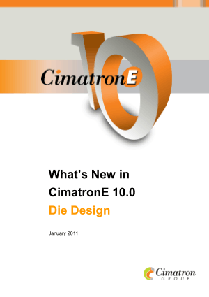 What is New in Cimatron E10 Die Design