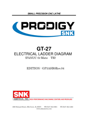 PRODIGY GT-27 Electrical Ladder Diagram FANUC 0i-Mate TB
