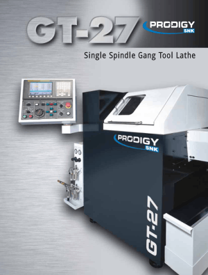 PRODIGY GT-27 Single Spindle Gang Tool Lathe