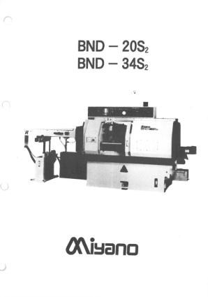 Miyano BND 20S2 34S2 Manual