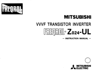 Mitsubishi FR-Z024 UL Instruction Manual