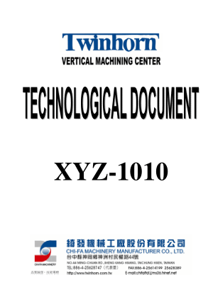 Twinhorn VMC XYZ 1010 Manual