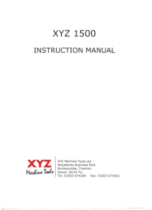 King Rich KR-V1500 XYZ 1500 Instruction Manual
