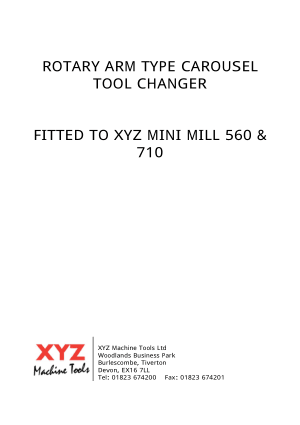 XYZ 560 710 Rotary Arm Type Carousel Tool Changer Manual
