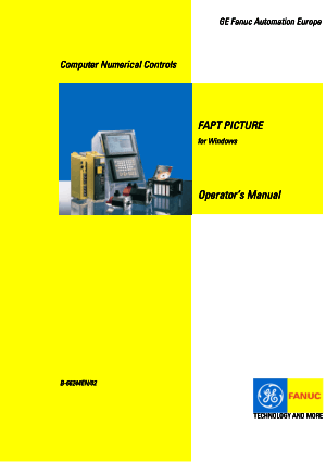 Fanuc FAPT PICTURE for Windows Operator Manual B-66244EN