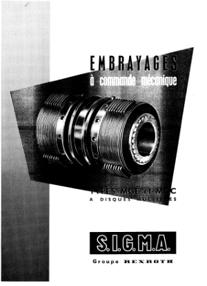 complement doc embrayages S.I.G.M.A type MGE et MGC