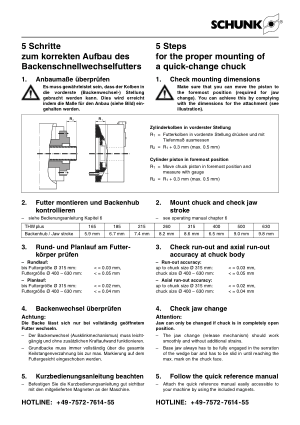 SCHUNK 5 Steps for Proper Mounting of Quick-change Chuck