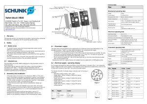SCHUNK Valve block VB25 Quick Reference Guide