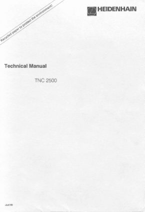 Heidenhain TNC 2500 Technical Manual