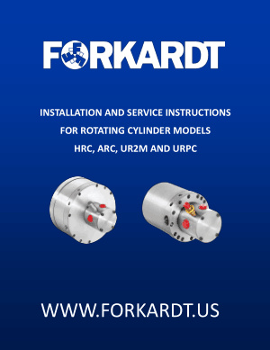 Forkardt HRC ARC UR2M & URPC Rotating Cylinder Models Instruction Manual