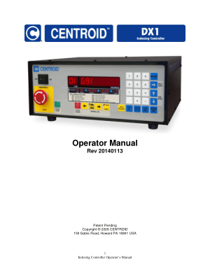 Centroid DX1 Indexing Controller Operator Manual