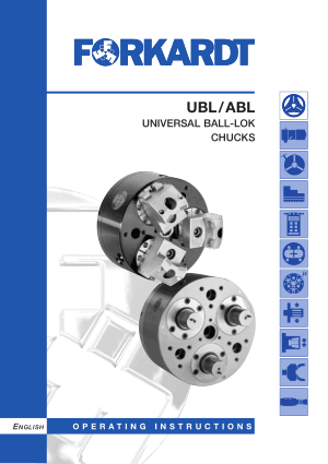 Forkardt UBL/ABL Universal Ball-Lok Chucks Manual