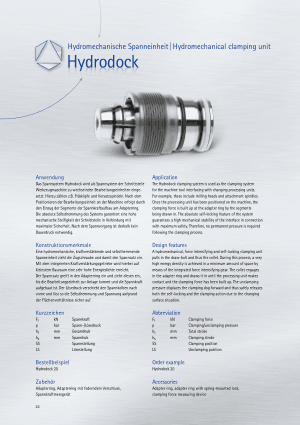 BERG Hydrodock Hydromechanical Clamping Unit