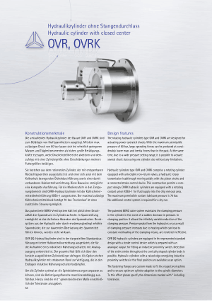 BERG OVR OVRK Hydraulic Cylinder with Closed Center