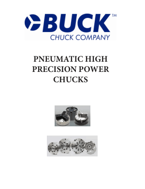 BUCK Pneumatic High Precision Power Chucks
