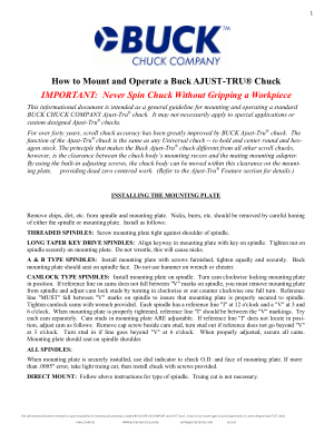 How to Mount & Operate a Buck AJUST-TRU Chuck