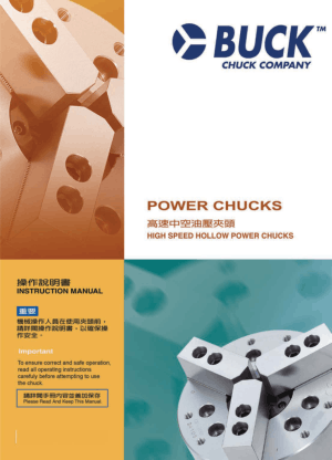 BUCK BPL Power Chucks Manual