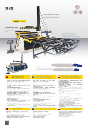 Sahinler Metal 3R HSS 30-350 Technical Specifications