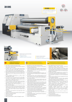 Sahinler Metal 3R UHS 30-550 Technical Specifications