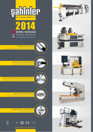 Sahinler Metal 2014 General Catalogue