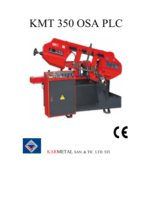 Karmetal KMT 350 OSA PLC Manual