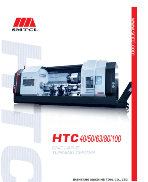 SMTCL HTC40 50 63 80 100 CNC Lathe Turning Center