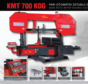 Karmetal KMT 700 KDG SDG Semi-auto Miter Double Column Band Saw Machine Specifications