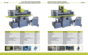 YTU 800 Horizontal Spindle Surface Grinding Machine Specifications
