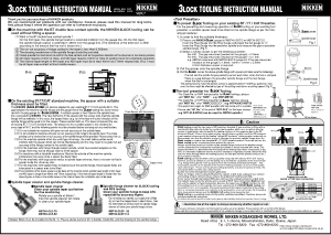 Nikken 3Lock Tooling Instruction Manual