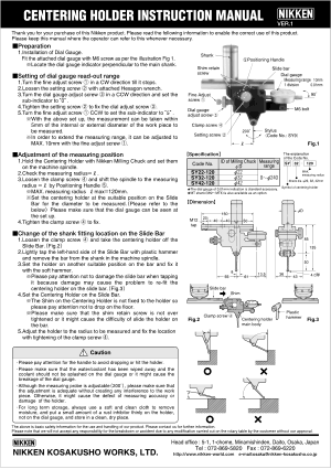 Nikken Centering Holder Instruction Manual