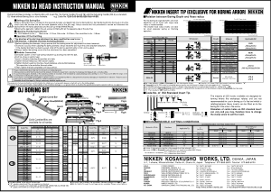 Nikken DJ Head Instruction Manual