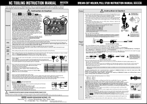 Nikken NC Tooling Instruction Manual