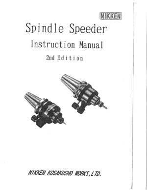 Nikken Spindle Speeder Instruction Manual