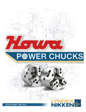 Lyndex-Nikken Howa Power Chuck Catalog