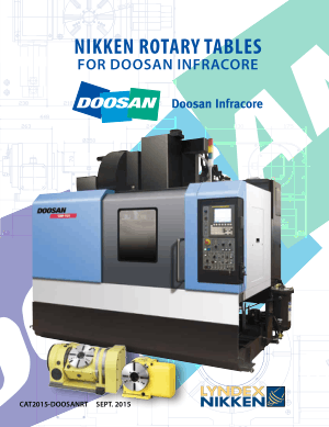 Lyndex-Nikken Doosan Rotary Table Catalog 2015