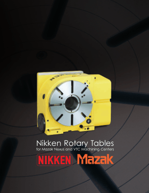 NIKKEN Mazak Rotary Table Catalog
