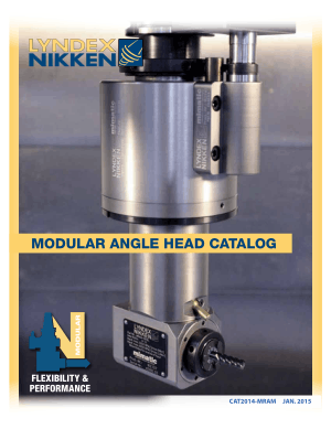 Lyndex-Nikken Modular Angle Head Catalog 2014  jan 2015