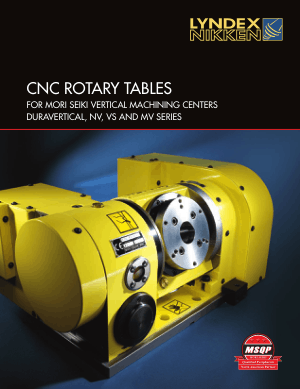 Lyndex-Nikken Mori Seiki Rotary Table Catalog