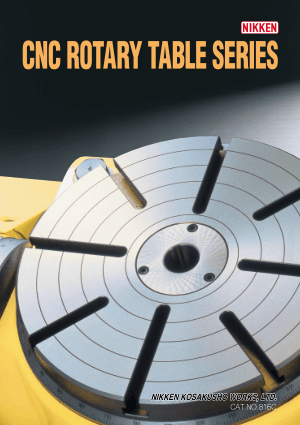 Nikken CNC Rotary Table Series Catalog CAT-816C