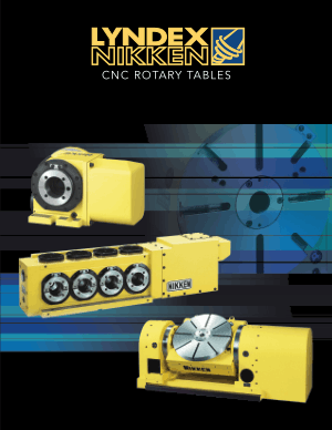 Lyndex-Nikken CNC Rotary Tables Brochure