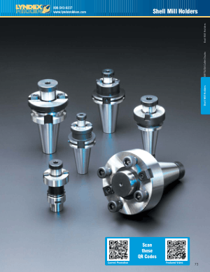 Lyndex-Nikken Shell Mill Holder Catalog CAT2011