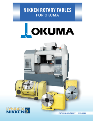 Lyndex-Nikken Okuma Rotary Table Catalog 2014