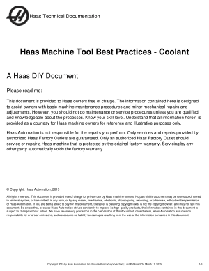 Haas Machine Tool Best Practices – Coolant