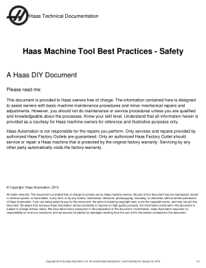 Haas Machine Tool Best Practices - Safety
