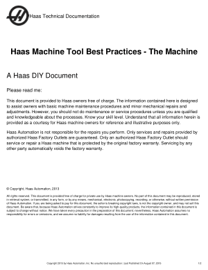 Haas Machine Tool Best Practices – The Machine