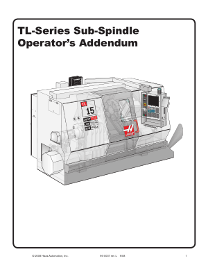 Haas TL-Series Sub-Spindle Operator Addendum