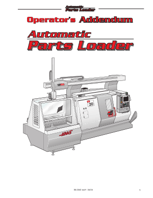 Haas Automatic Parts Loader Operator Addendum
